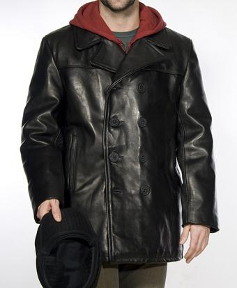 Бушлат cowhide fitted peacoat schott черный 640 fl